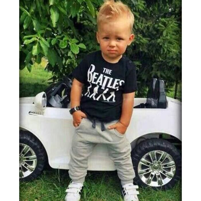 eozy enfant b b gar on ensemble de v tement 2 pi ces tee shirt manches courtes pantalon. Black Bedroom Furniture Sets. Home Design Ideas