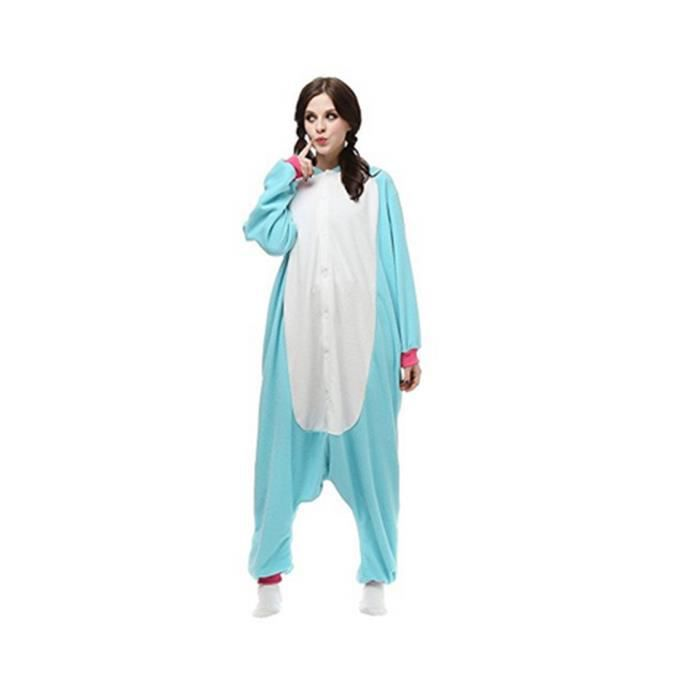 De Adulte Anime Vêtements Soirée Unisexe Pyjama Animal Outfit Fleece Onesie Costume Nuit Halloween Cosplay Combinaison 66SZU