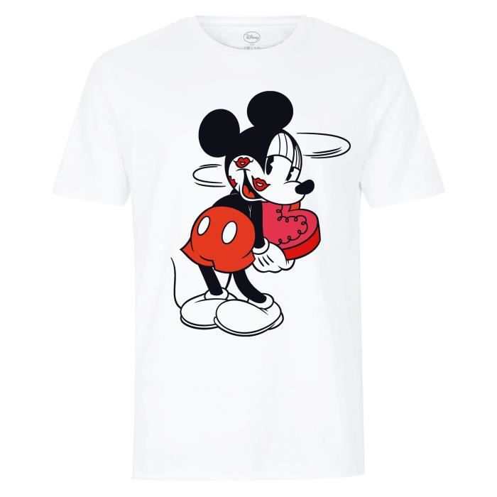 Disney T Shirt Mickey Mouse Adulte Mixte Blanc Blanc Achat