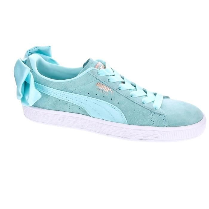 Suede Femme Why2dee9i Basses Baskets Puma Vert Bow 08nwPXkNO