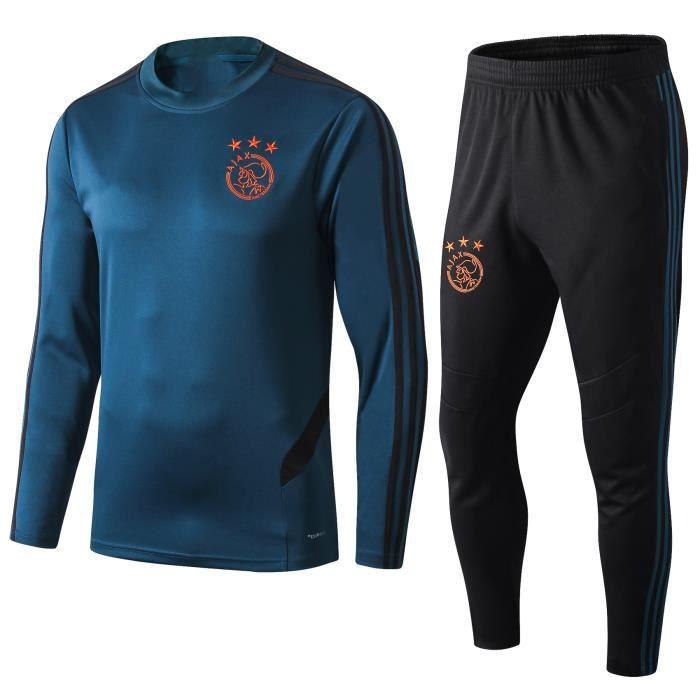 Ajax Maillot de Foot Football Soccer(maillot + pantalon) Kit Suit 2019 2020 Pas Cher Survêtement Training pour Homme
