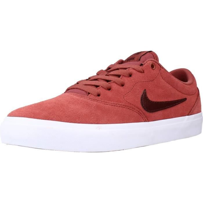 NIKE SB Baskets Charge Suède Rouge - Homme