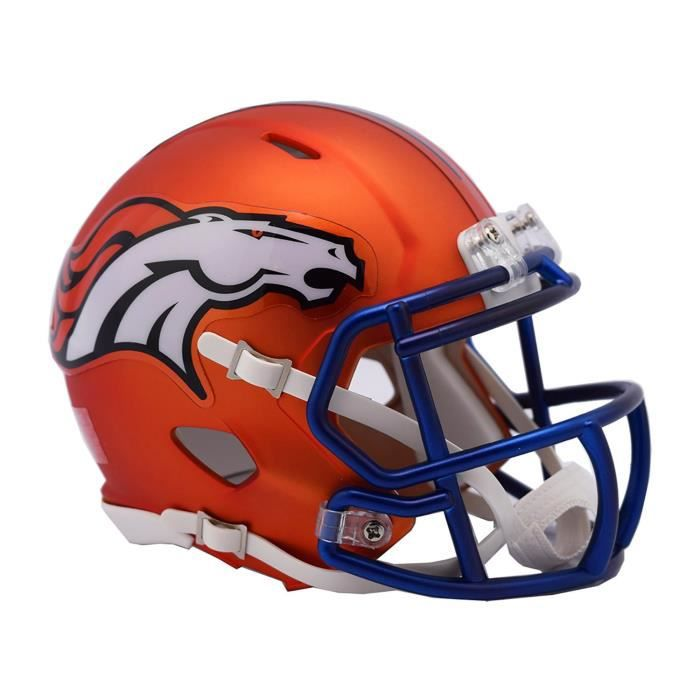 Riddell Mini Football Casque - NFL BLAZE Denver Broncos