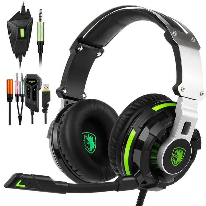 Sades Sa933 Casque Gamer Pour Ps4 Xbox One Nintendo Switch Computer