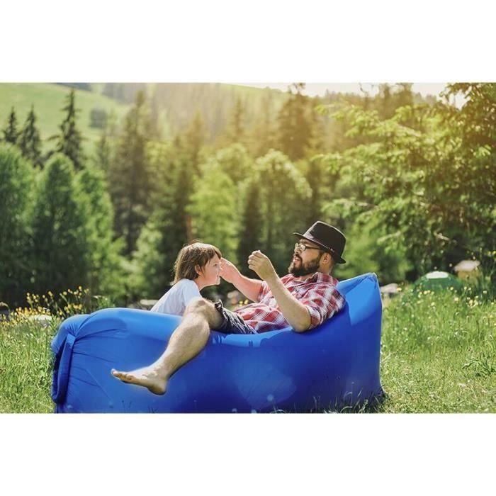 randonn/ée parc RENS Chaise longue gonflable avec appuie-t/ête natation canap/é paresseux camping f/ête flotteur pour voyage matelas ultra l/éger et gonflable canap/é transportable