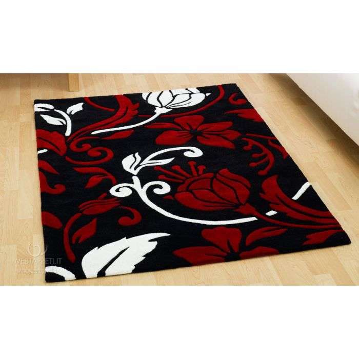 damask redcream tapis moderne cm 135 rond achat vente tapis cdiscount. Black Bedroom Furniture Sets. Home Design Ideas