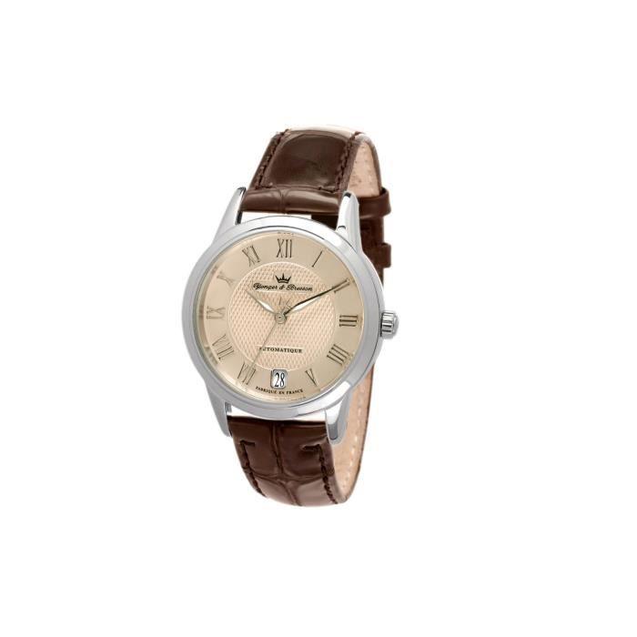 bracelet cuir montre yonger et bresson