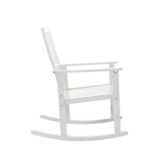 chaise blanche rusique dossier haut