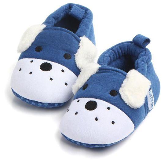 Cute Boy Baby Girl doux Chaussures Fring à semelle souple non Slip Chaussures Chaussures Crib