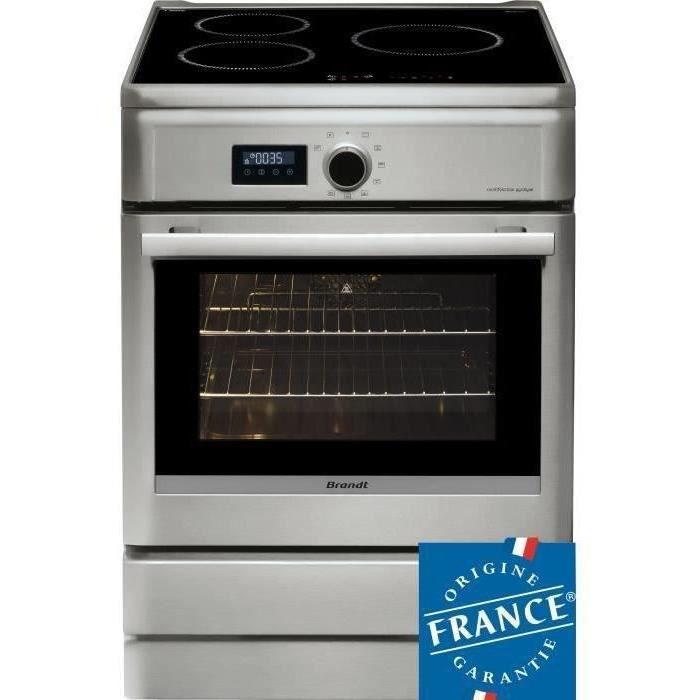 BRANDT BCI6658T-Cuisinière table induction-3 zones-Four électrique-Pyrolyse-57 L-A-L 60 x H 85 cm-Silver
