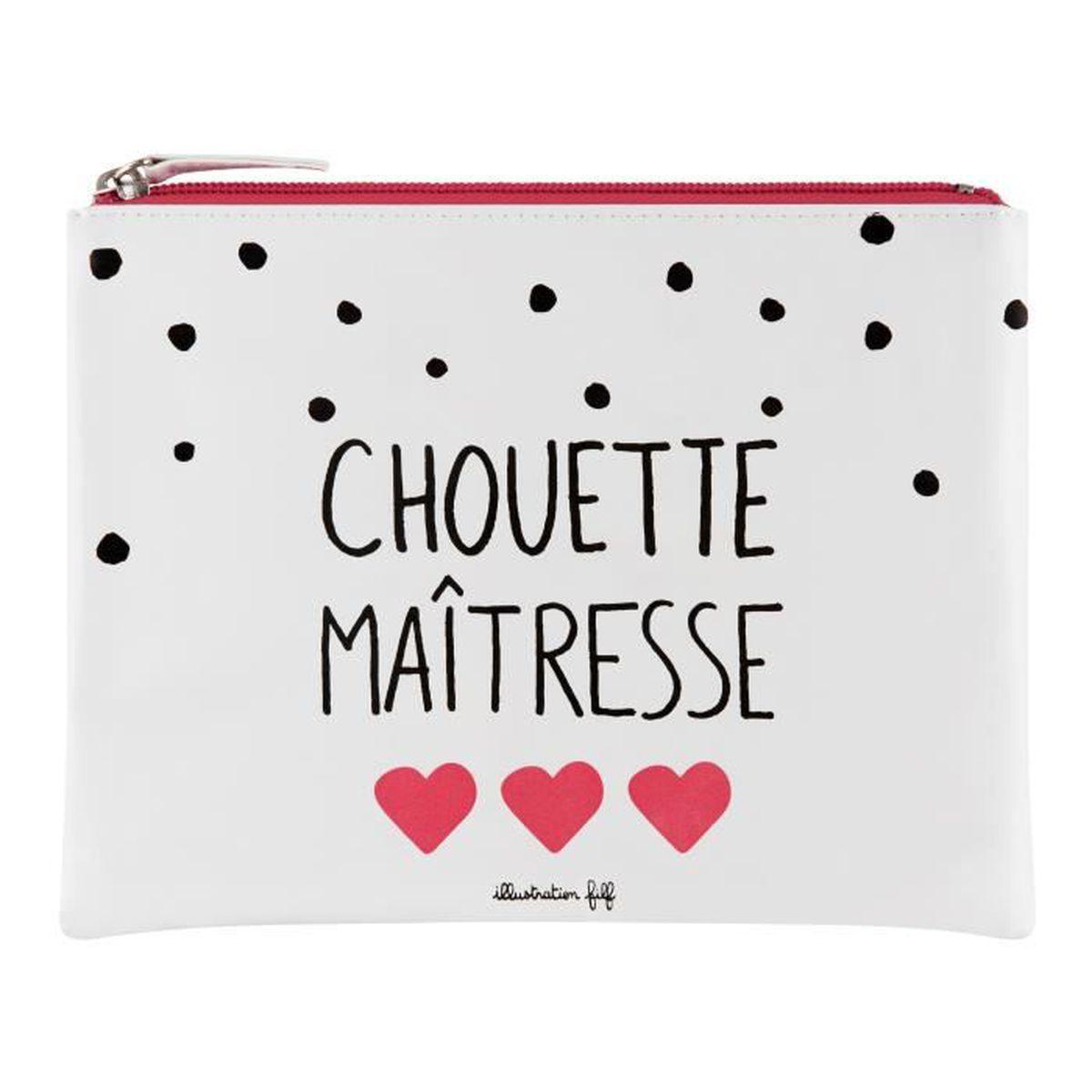 """Pochette Trousse /""""Mon Atsem/"""" Idée Cadeau Homme Femme Ecole Maître Maîtresse DLP"""