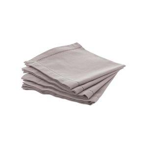 SERVIETTE DE TABLE Lot de 4 serviettes de table Chambray - Atmosphera