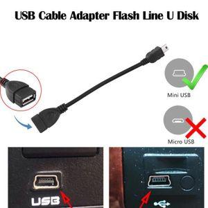 CLÉ USB Câble audio mini Port de voiture Adaptateur de câb