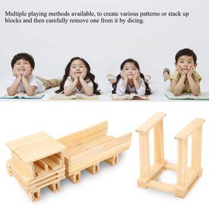 ASSEMBLAGE CONSTRUCTION Jeu de blocs de construction en bois pour bébé, 10