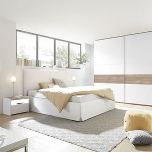 Chambre a coucher adulte blanche