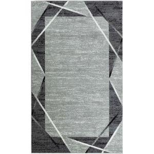 TAPIS SANTANA Tapis de salon - Gris, noir et blanc - 120