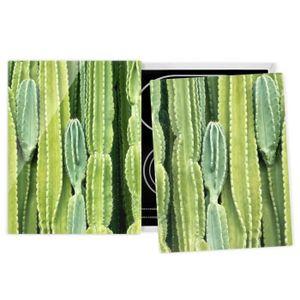 PLAQUE INDUCTION Couvre plaque de cuisson - Cactus Wall - 52x80cm,