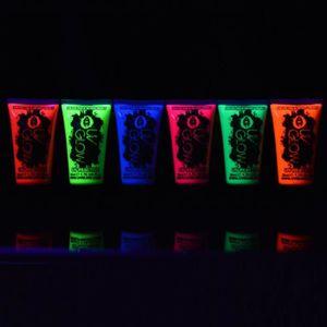 PAILLETTES CORPS UV Glow Lot 6x50ml Peinture Néon Fluo Corps
