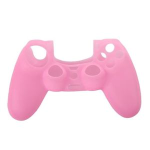 STICKER - SKIN CONSOLE YM Housse Etui Coque en Silicone Rose pour Manette