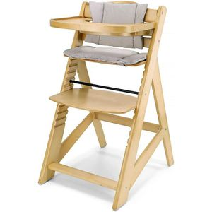 design Chaise haute b/éb/é /évolutive plateau amovible Confort noir//bordeaux pieds en bois