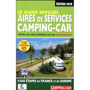 GUIDES DE FRANCE Livre - le guide officiel aires de services campin