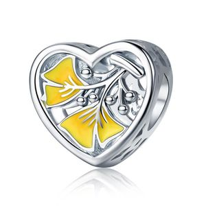 coeur pandora jaune