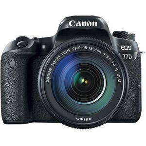 APPAREIL PHOTO RÉFLEX CANON EOS 77D + EF-S 18-135 mm f/3.5-5.6 IS USM GA