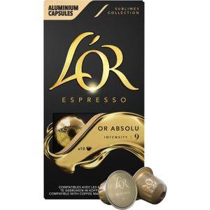 CAFÉ Café moulu en capsule 52g L'Or Espresso