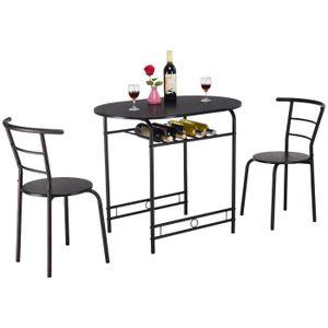 TABLE À MANGER COMPLÈTE COSTWAY Ensemble de Table et Chaise de Salle à Man