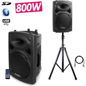 ENCEINTE ET RETOUR Enceinte SONO DJ amplifiée 15