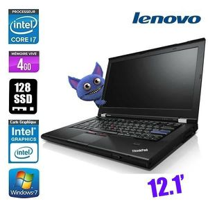 PC RECONDITIONNÉ LENOVO THINKPAD X220 CORE I7 2640M - 4GO 128GO- GR