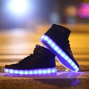 BASKET 7 Couleur Homme USB Charge LED Lumière Lumineux Cl