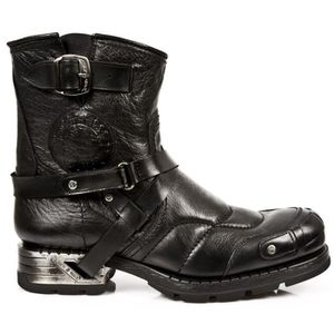 BOTTINE Bottines biker cuir New Rock M.MR004-S1
