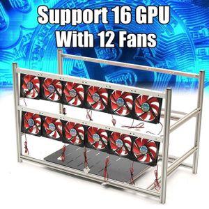 BOITIER PC  NEUFU 16 GPU Aluminum Open Air Mining Rig Miner Bo