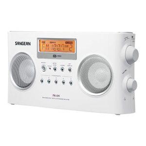 RADIO CD CASSETTE Radio stéréo portable RDS Sangean PR-D5 blanche, …