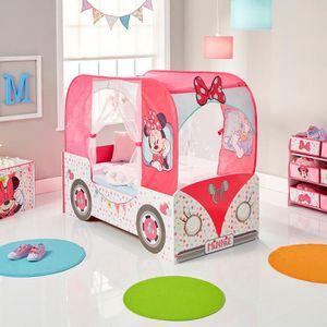 LIT EVOLUTIF Lit camping-car Minnie Mouse pour petite fille