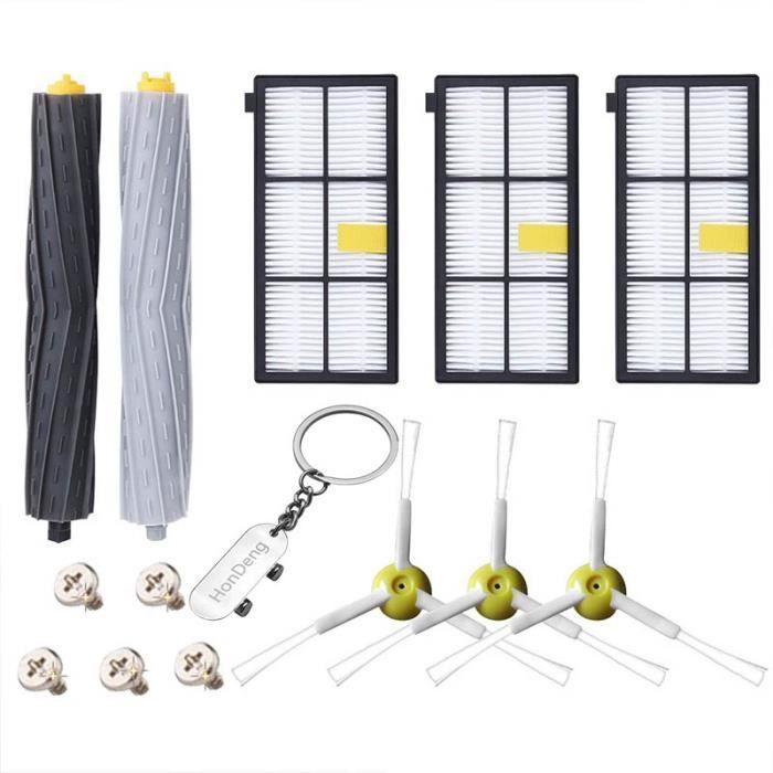 Kit accessoires pour iRobot Roomba serie 800 805 850 860 865 866 870 871 880 900 960 965 966 980 Filtres pour Aspirateur Robot.