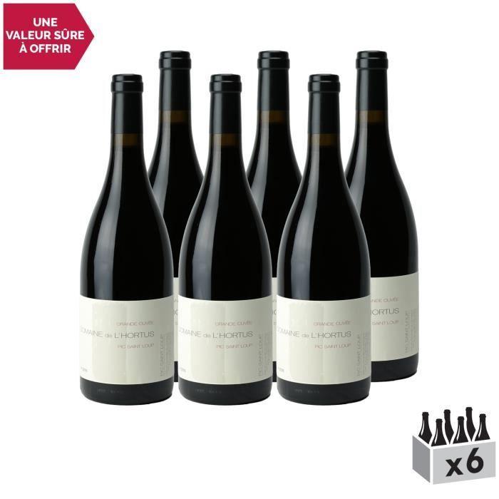 Domaine de l'Hortus Pic Saint-Loup Grande Cuvée Rouge 2018 - Lot de 6x75cl - Vin AOC Rouge du Languedoc - Roussillon - Cépage Syrah