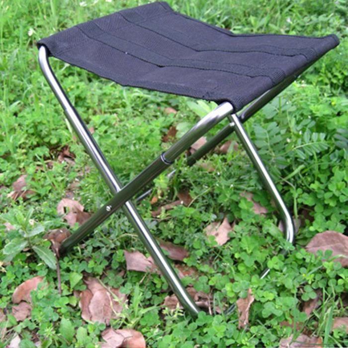 AOTU Outdoor Leisure en alliage d'aluminium pliant Tabouret Noir @outdoor1394