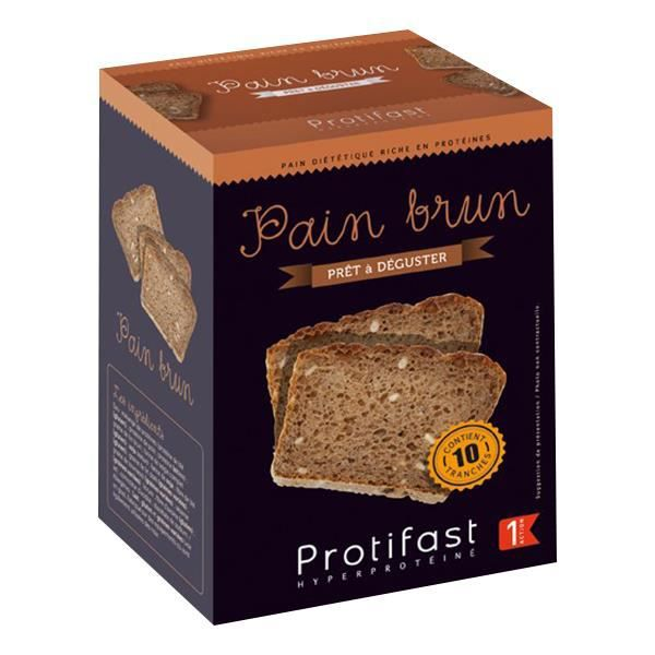 Protifast Pain Brun Tranché 10 tranches