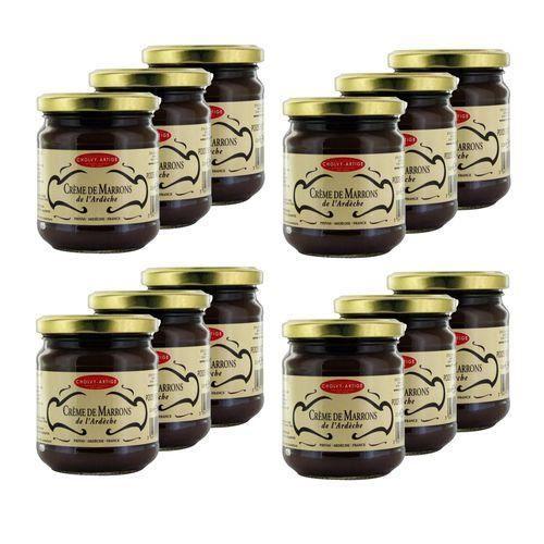 Lot 12x Crème de marrons de l'Ardèche - Cholvy Artige - pot 250g