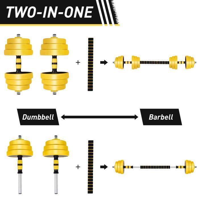 Kit Haltères ajustable - 25kg - Haltères Musculation