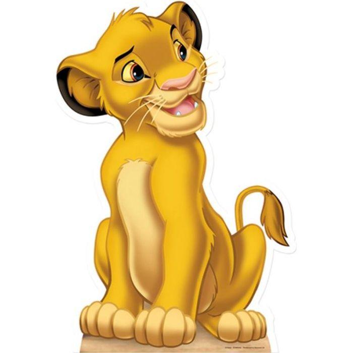 Figurine en carton taille réelle Le Roi Lion Simba