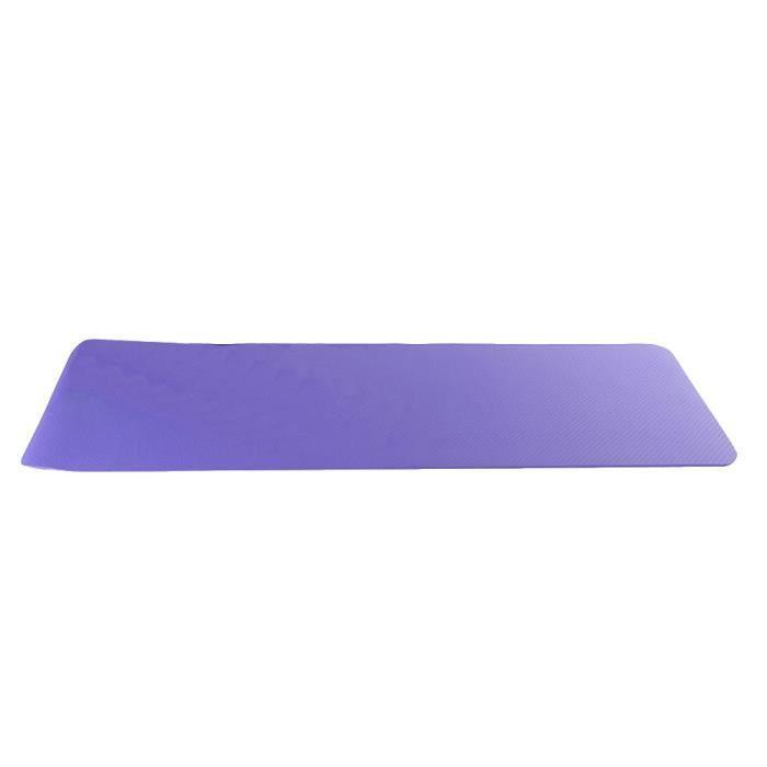 TPE Matériaux Antidérapant Tapis de Yoga , Pour Fitness, Pilates, Entraînement Taropurple 183x61x8cm