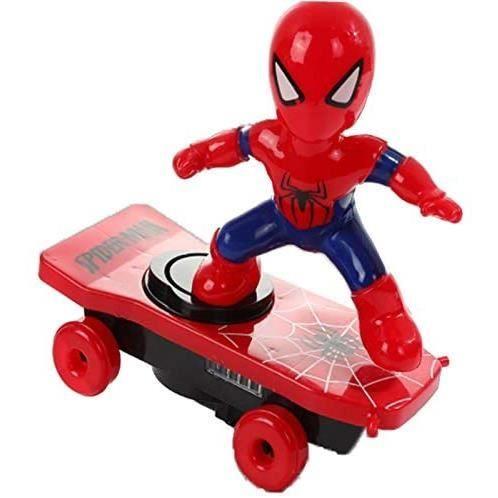 VEHICULE MINIATURE ASSEMBLE ENGIN TERRESTRE MINIATURE ASSEMBLE Enfants &Eacutelectrique Cascade Jouet Automatique Spider Man 467
