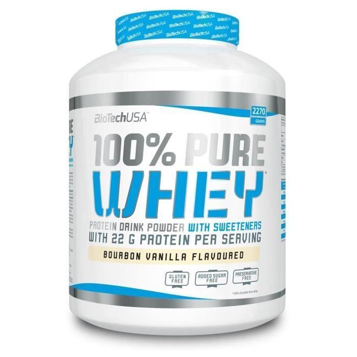 100% Pure Whey 2270g Riz au Lait Biotech USA Proteines