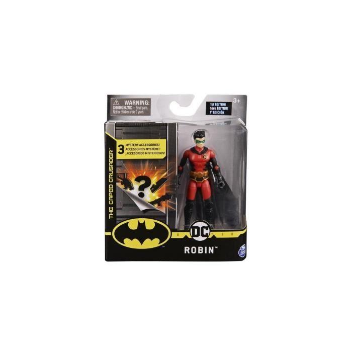 Coffret Figurine Robin 10 cm Avec 3 Accessoires Mystere - DC - Super Heros - Jouet Garcon