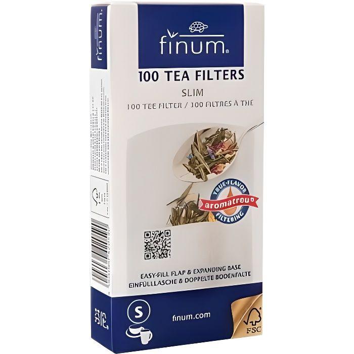 FINUM Filtre à thé x100-S-75x155mm