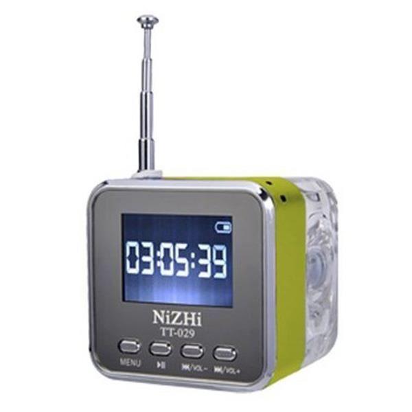 NiZHi TT-029 Mini Haut-Parleur Lecteur de musique numérique avec FM - réveil - fente TF - USB - Audio-in pour téléphone portable ...