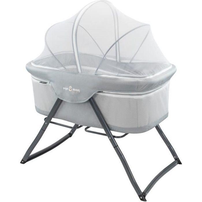 BEBITO Berceau lit parapluie 3en1 + moustiquaire et sac de transport Gris